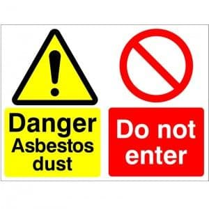 Danger Asbestos Dust Do Not Enter - Health and Safety Sign