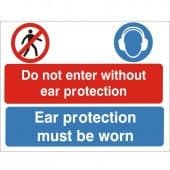 Do Not Enter Without Ear Protection - Health and Safety Sign (MUL.45)