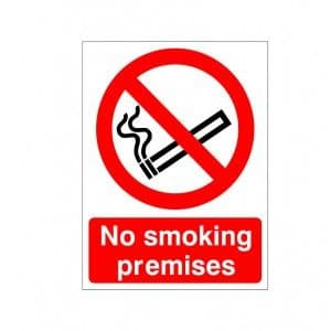 No Smoking Premises - Health and Safety Sign (PRS.17) - Amazing quality signs for minuscule prices from Safety Services Direct! Our No Smoking sign is only £1.75!