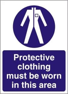 Protective Clothing Must be Worn in this Area - Health and Safety Sign (MAP.21)