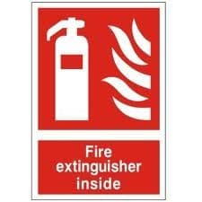 Fire Extinguisher Inside - Health and Safety Sign (FEX.14)