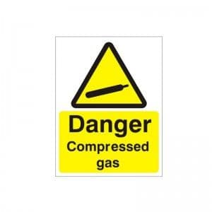 Danger Compressed Gas - Health and Safety Sign (WAG.59)