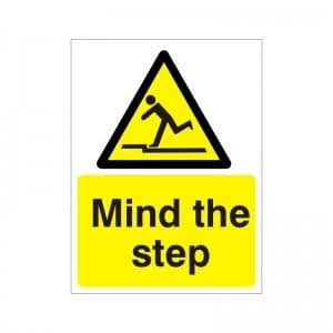Mind The Step - Health and Safety Sign (WAG.10)