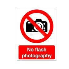 No Flash Photography - Health and Safety Sign (PRG.32)