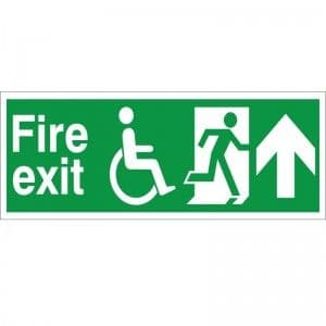 Fire Exit - Refuge - Up Arrow - Health and Safety Sign (FER.03)