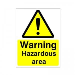 Warning Hazardous Area - Health and Safety Sign (WAG.112)