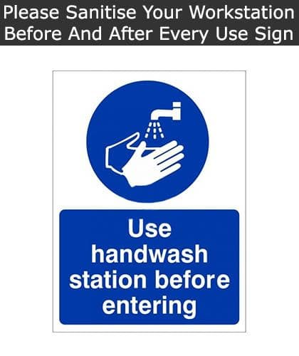 Use Handwash Station Before Entering Sign | SSD
