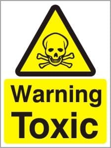 Warning TOXIC - Health and Safety Sign (WAG.14)