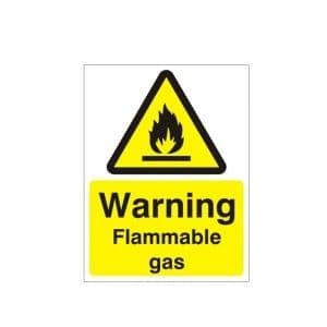 Warning Flammable Gas - Health and Safety Sign WAG-56