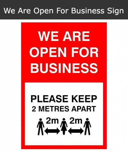 We Are Open For Business Sign