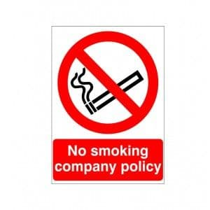No Smoking Company Policy - Health and Safety Sign