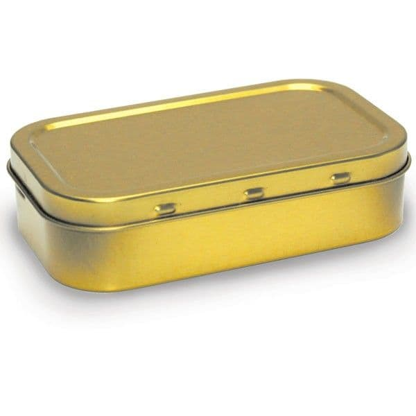 1oz (50ml) Air Tight Gold Colour Tobacco Tin