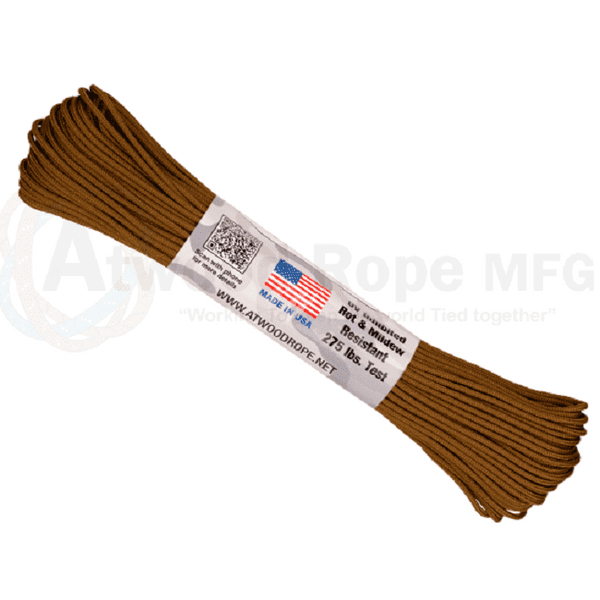275 Paracord - US Made - Coyote Brown