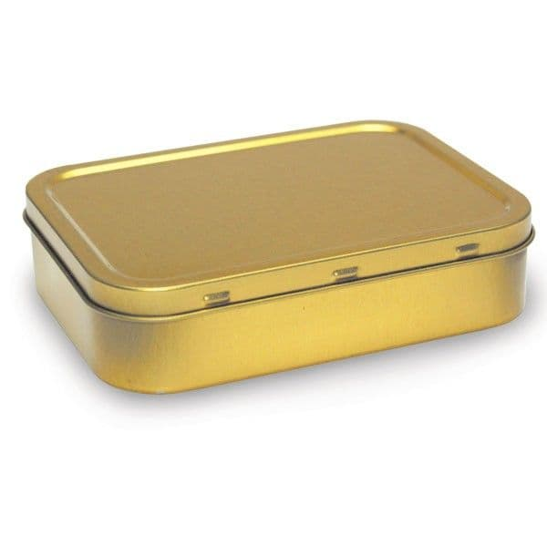 2oz (125ml) Air Tight Gold Colour Tobacco Tin
