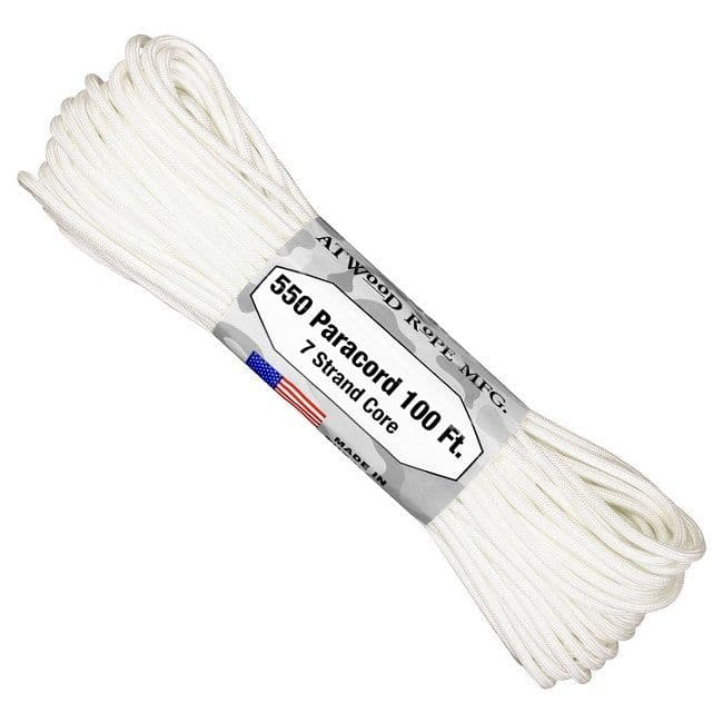 550 Paracord US Made GSA Compliant - White