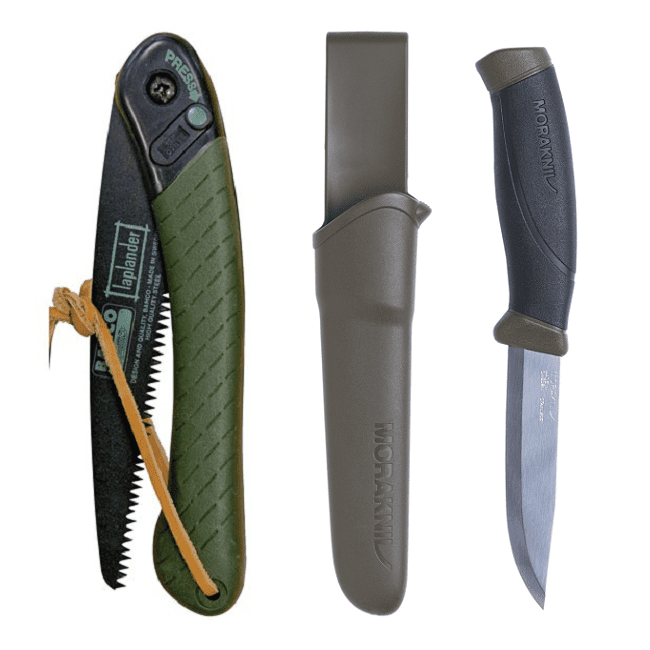 Bahco Laplander Folding Saw and Mora Knife Combo