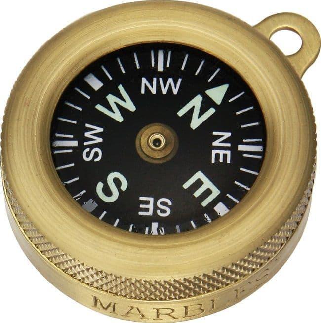 """Brass Marbles 1"""" Compass"""