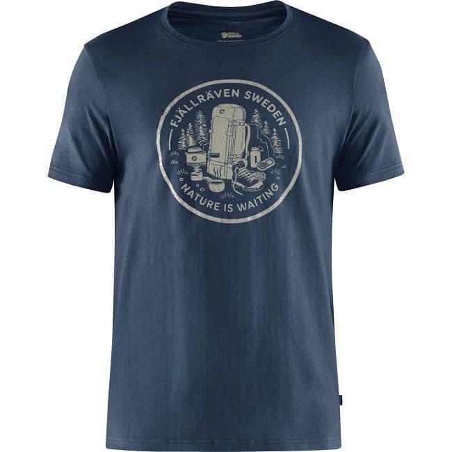 Fjallraven  Fikapaus T-Shirt - Navy