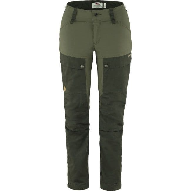 Fjallraven Keb Trousers  W Curved - Deep Forest/Laurel Green