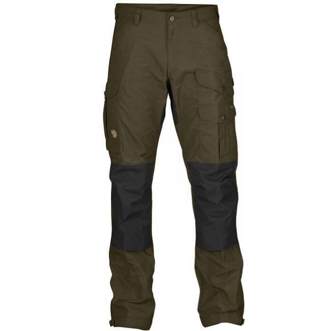 Fjallraven Vidda Pro Trousers - Dark Olive & Black - Long
