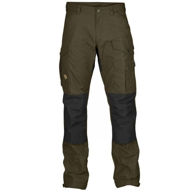 Fjallraven Vidda Pro Trousers - Dark Olive & Black - Short