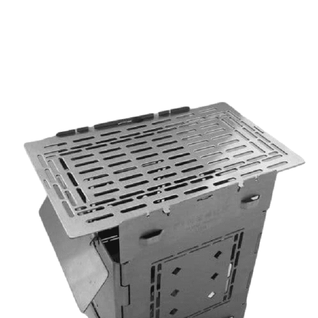 Folding Firebox Stove Extended Grill Plate