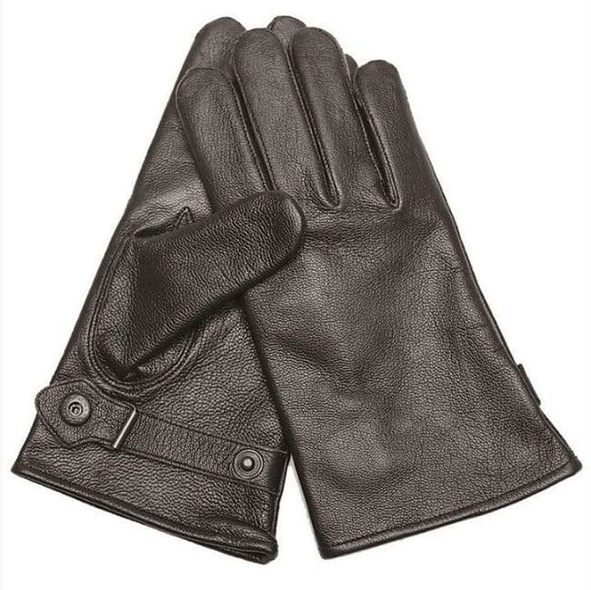 German Black Lined Goatskin Leather Gloves