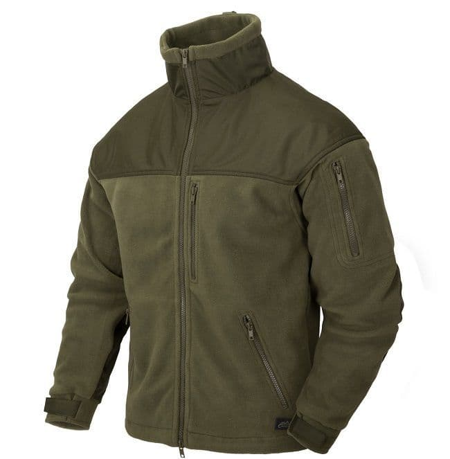 Helikon Classic Army Fleece Jacket - Olive Green