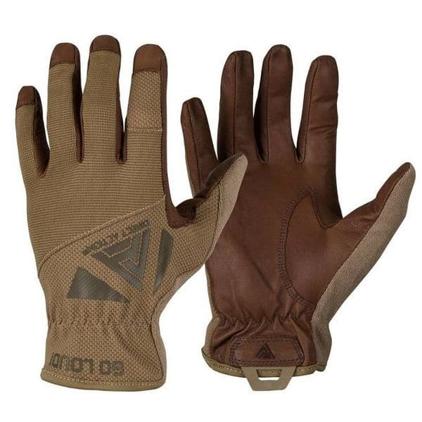 Helikon Direct Action Light Gloves - Leather/Coyote Brown