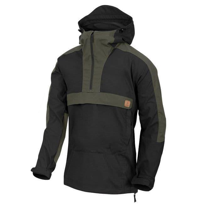 Helikon Woodsman Anorak Jacket - Black & Taiga Green