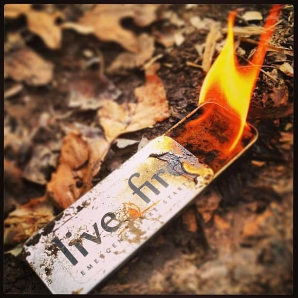 Live Fire Emergency Fire Starter - Original Size