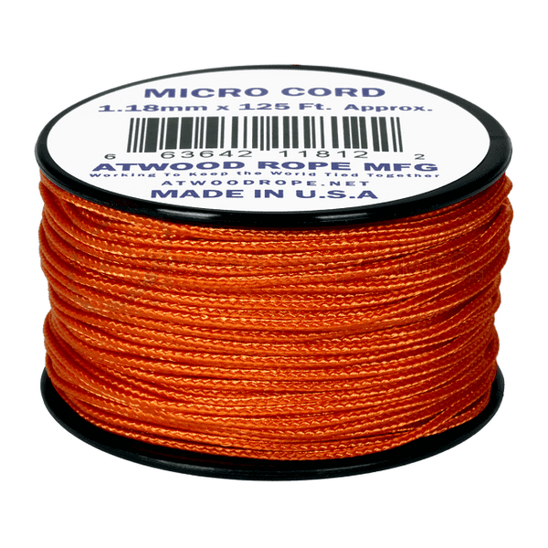 Micro Cord - 1.18mm Micro Paracord Various colours- 125 Feet Reel