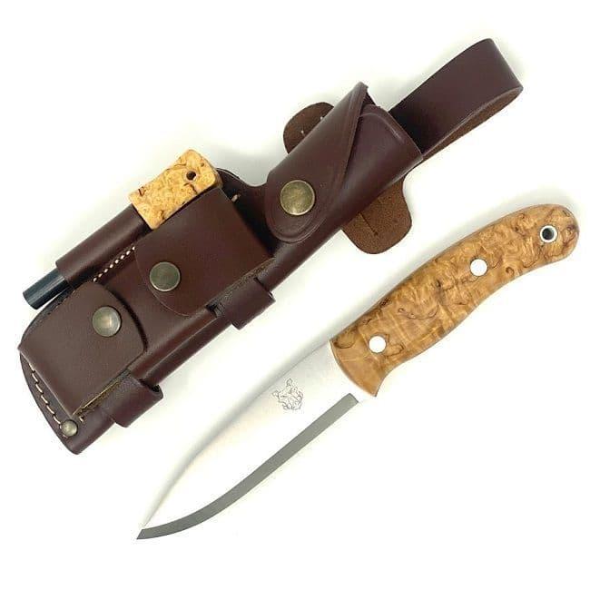 Mk II TBS Boar Bushcraft Knife - DC4 & Firesteel Edition  - Curly Birch