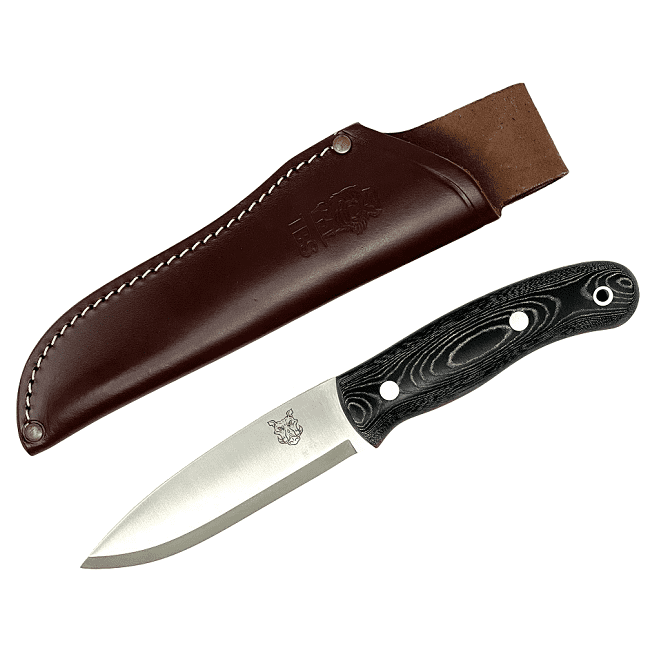 Mk II TBS Boar Bushcraft Knife - Standard Sheath - Black Micarta