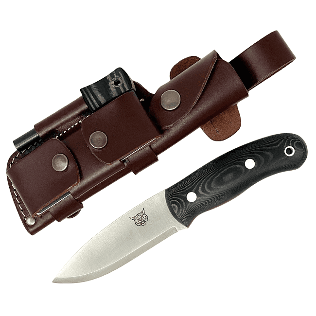 Mk II TBS Lynx Bushcraft Knife - Black Micarta - DC4 Edition
