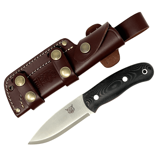 Mk II TBS Lynx Bushcraft Knife - Black Micarta - Multi Carry Sheath