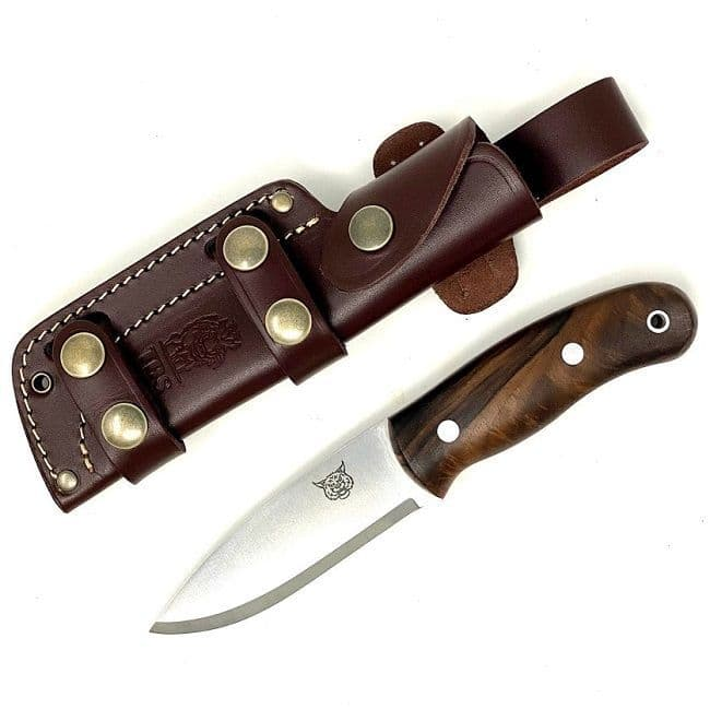 Mk II TBS Lynx Bushcraft Knife - Turkish Walnut - Multi Carry Sheath