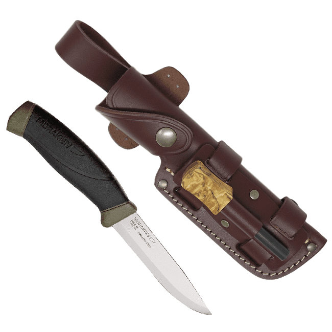 Mora Knife & TBS Firesteel Combo with TBS Leather Sheath - Choose your model