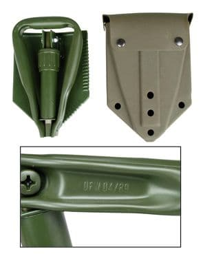 NATO Issue Trifold Folding Shovel with cover