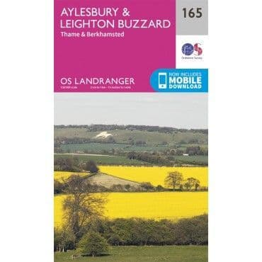 OS Landranger Map - 165 - Aylesbury, Leighton Buzzard