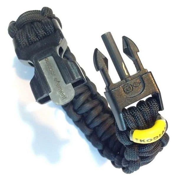 Outdoor Element Kodiak 550 Paracord Survival Bracelet - Black