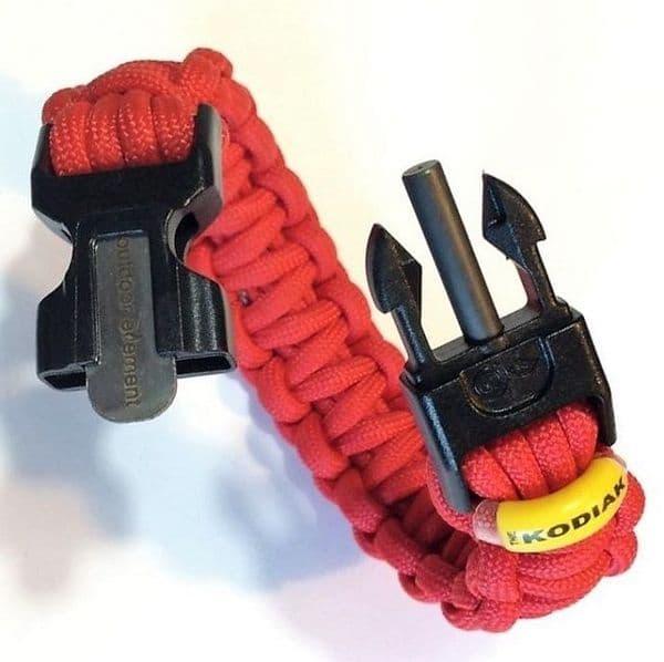 Outdoor Element Kodiak 550 Paracord Survival Bracelet - Red