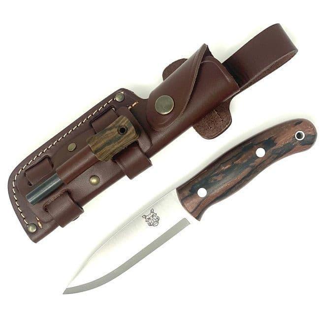 Special Edition TBS Boar Bushcraft Knife - Stabilised Spalted Beech - Firesteel Edition