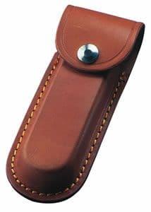 Tan Leather Folding Knife Sheath - Various Sizes