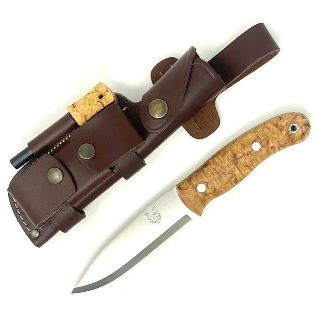 TBS Boar Bushcraft Knife - N690co Edition - Curly Birch - DC4