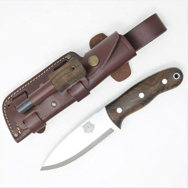 TBS Grizzly Bushcraft Survival Knife - Firesteel Edition - Turkish Walnut