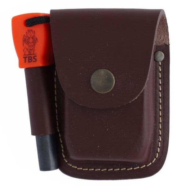 TBS Leather Fire Pouch - Army Size