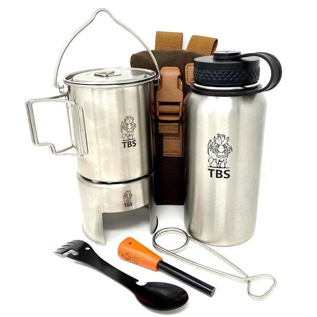TBS Wilderness Bottle Cook Kit with Helikon Bottle Bag