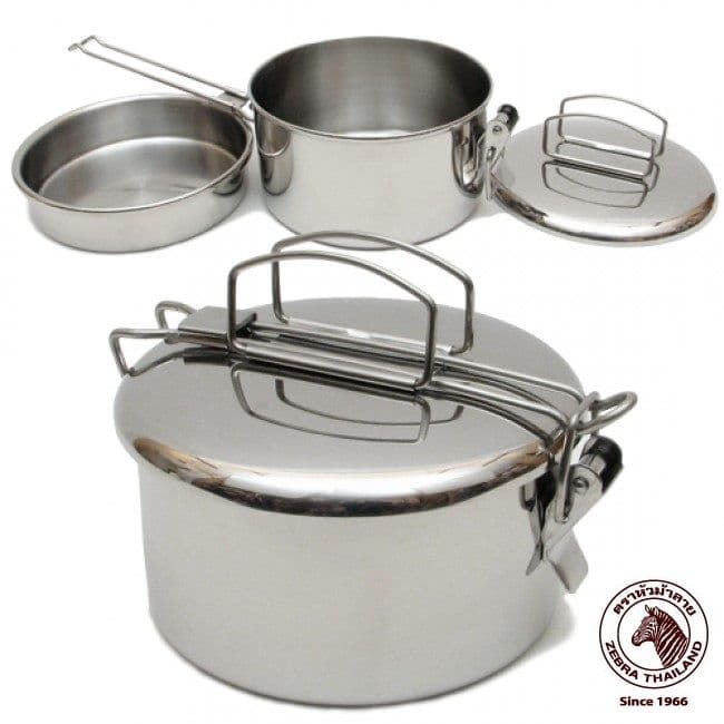 """Zebra 14cm """"Lunchbox"""" - A brilliant Stainless Steel cooking pot."""