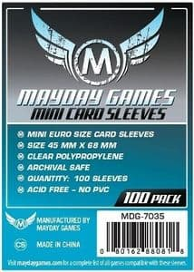 MDG7035 Mayday 45mm x 68mm – Standard Mini Euro Card Sleeves